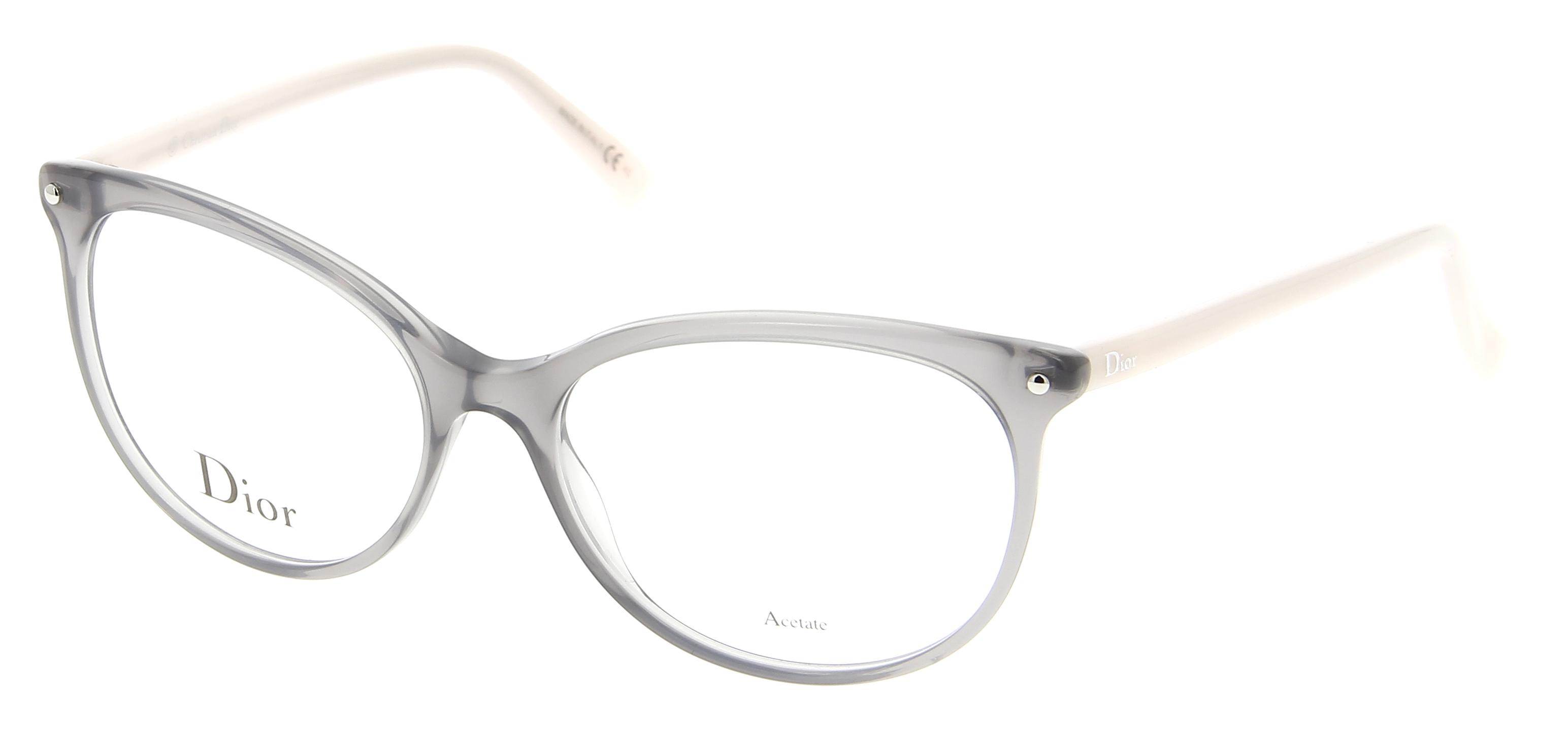 lunettes de vue dior cd 3284 6ni 53 16 femme gris transparent papillon cercl e tendance. Black Bedroom Furniture Sets. Home Design Ideas