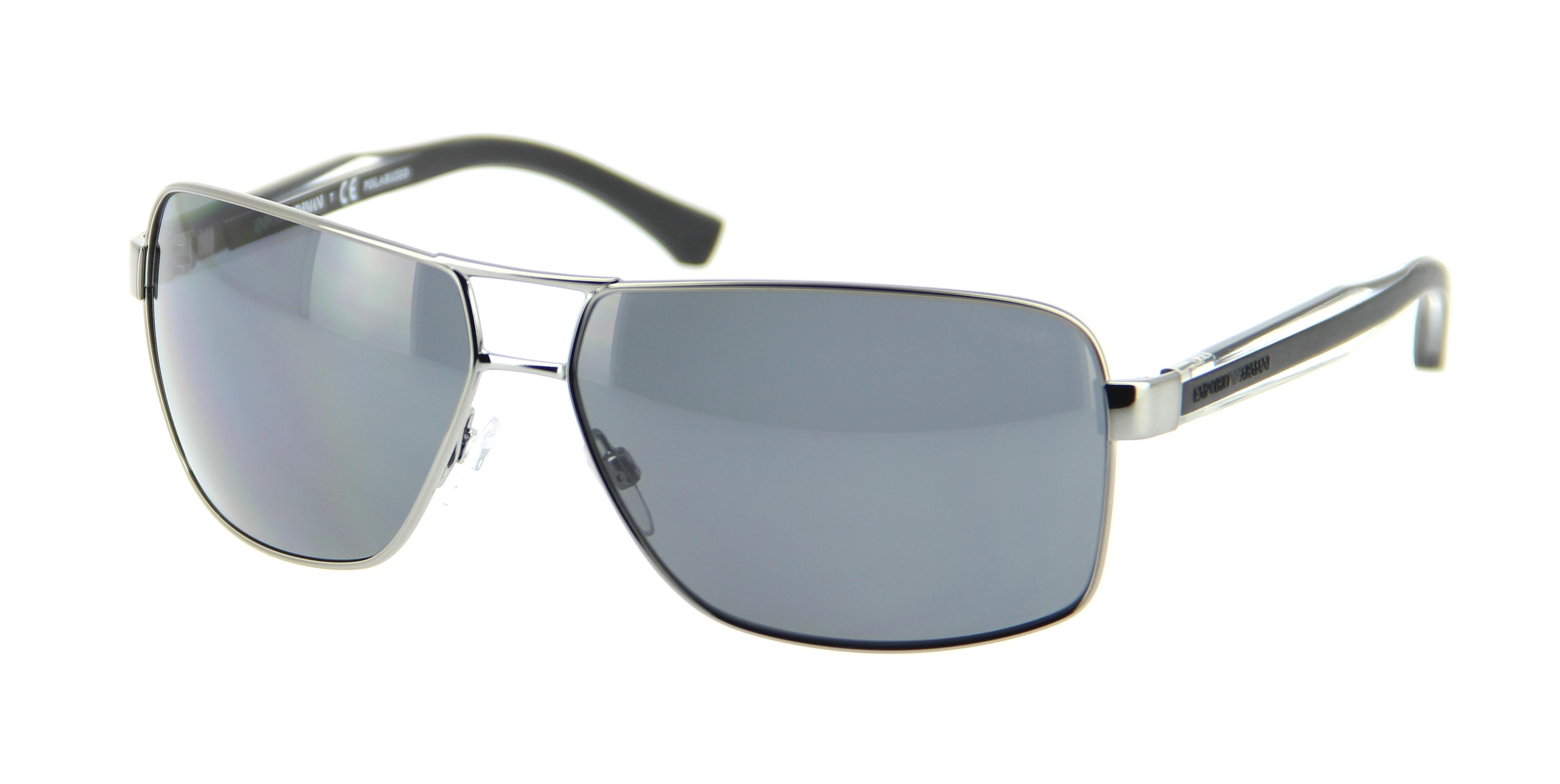 lunettes de soleil emporio armani ea 2001 301081 64 13 homme gun rectangle cercl e tendance. Black Bedroom Furniture Sets. Home Design Ideas