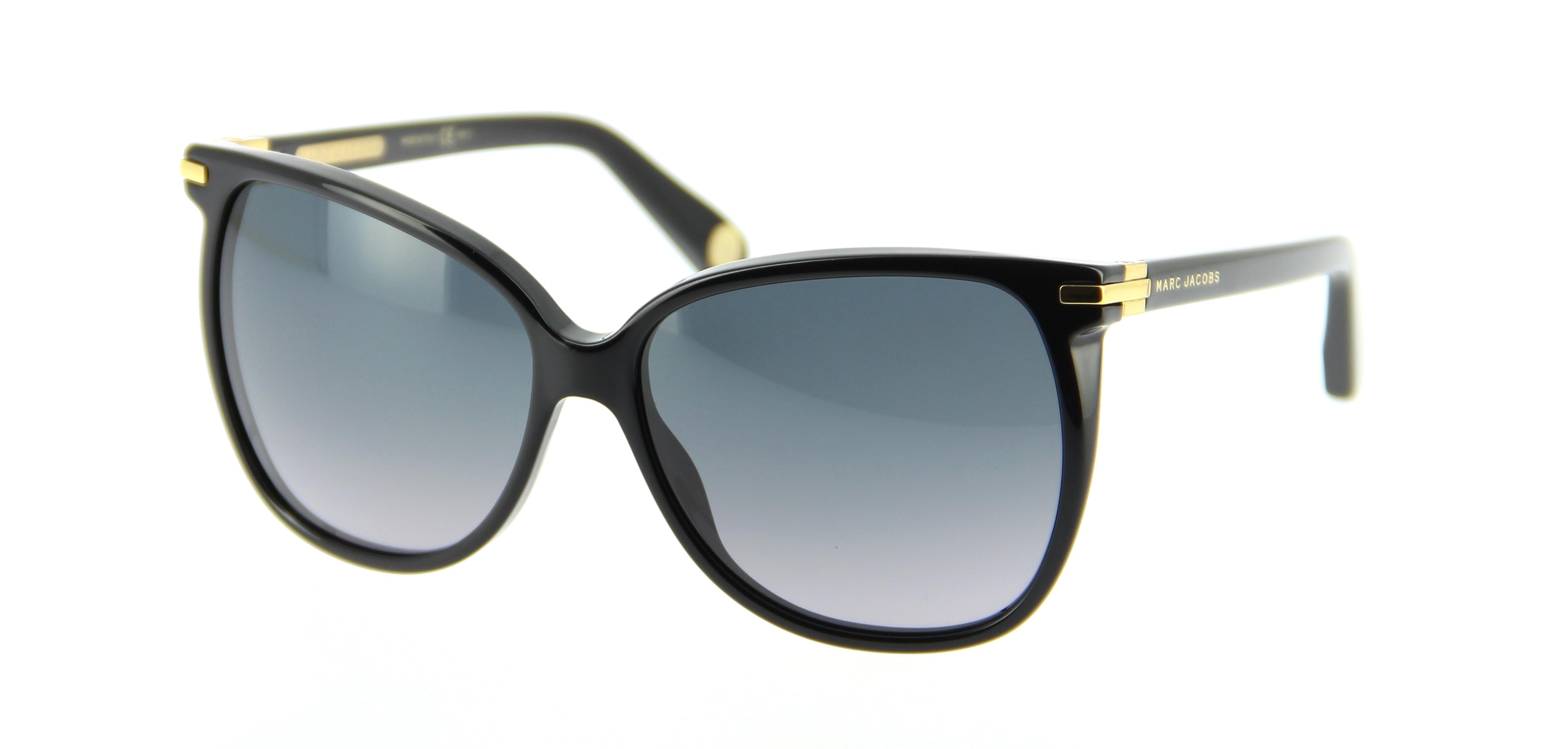 lunettes de soleil marc jacobs mj 504 s 807 59 15 femme noire arrondie cercl e tendance. Black Bedroom Furniture Sets. Home Design Ideas