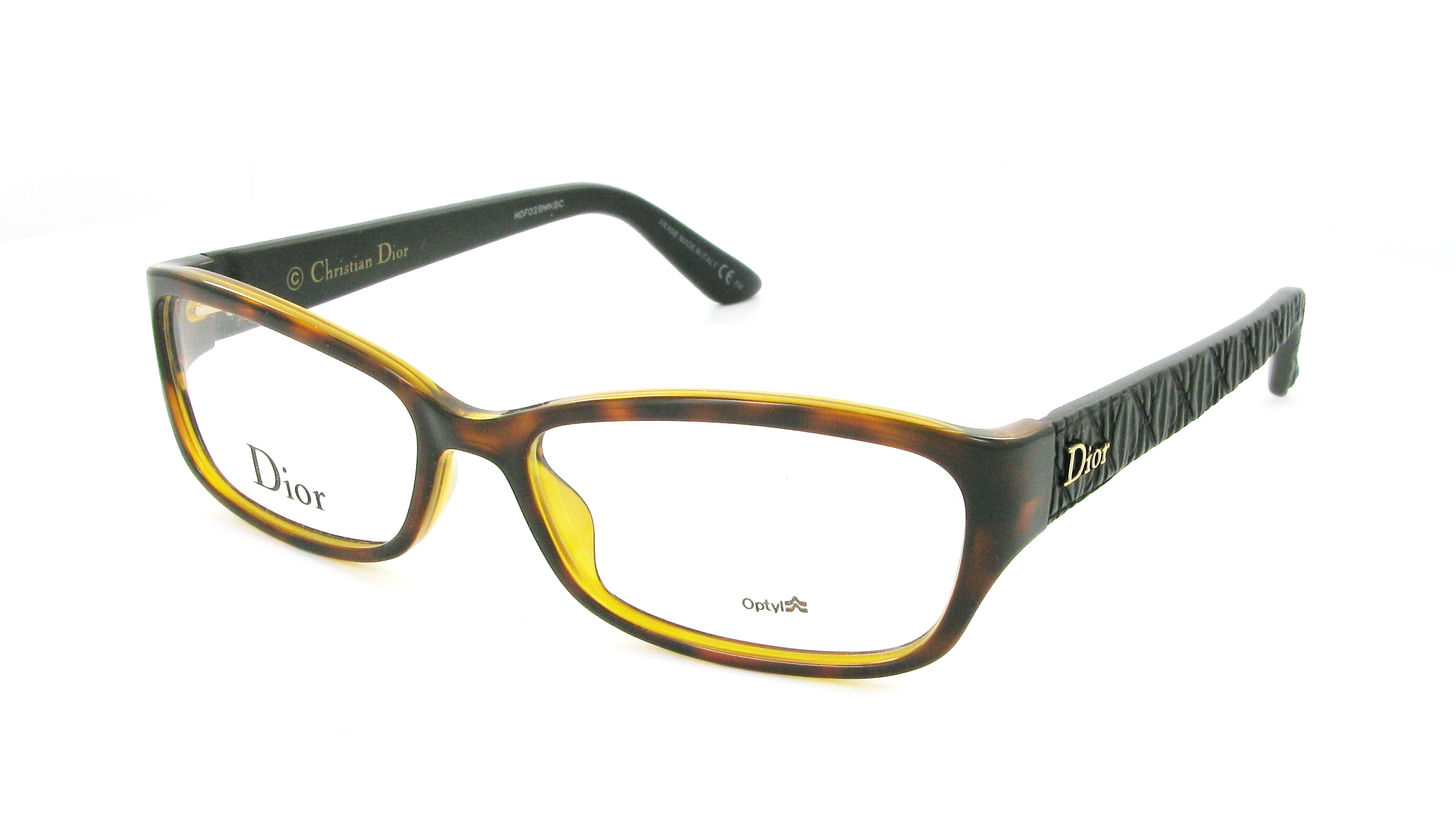 Glasses Frame Dior : Eyeglasses DIOR CD 3235 DJS 55/16 Woman Ecaille rectangle ...